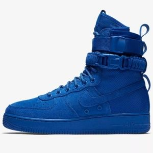 NWB NIKE SF AF1 Blue Suede Basketball Shoes
